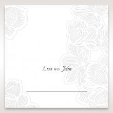 Floral Laser Cut Elegance Black reception table place card
