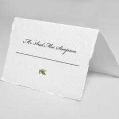 Geometric Bloom wedding place card stationery design
