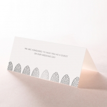 Gilded DecPDence wedding venue place card