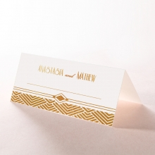 Gilded Glamour place card stationery