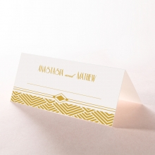 Gilded Glamour wedding reception table place card design
