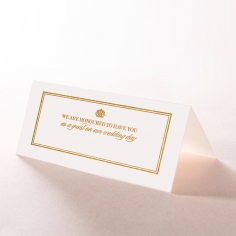 Gold Foil Baroque Gates wedding reception place card stationery item