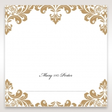 Golden Antique Pocket table place card stationery