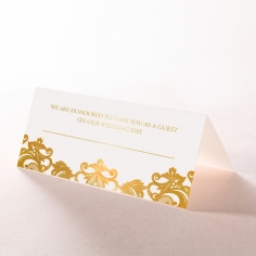 Golden Baroque Pocket with Foil reception place card stationery