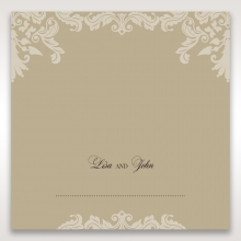 Golden Beauty table place card design