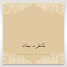 Golden Classic reception place card stationery item