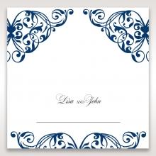 Graceful Ivory Pocket wedding stationery place card design