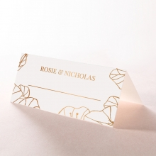 Grand Flora place card stationery design