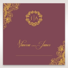Imperial Glamour with Foil place card stationery