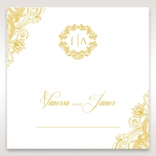Imperial Glamour with Foil place card stationery design