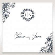 Imperial Glamour without Foil place card design