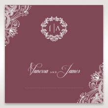 Imperial Glamour without Foil place card stationery design