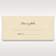 Ivory Victorian Charm reception place card stationery design