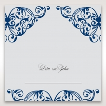 Jewelled Navy Half Pocket reception place card