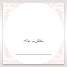 Laser cut Bliss wedding table place card design