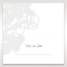 Laser Cut Floral Wedding wedding stationery place card