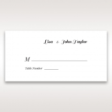 Lovely Lillies reception place card design
