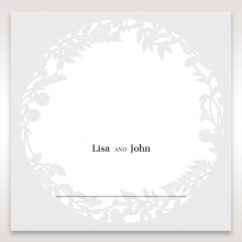 Luscious Forest Laser Cut wedding reception place card stationery item