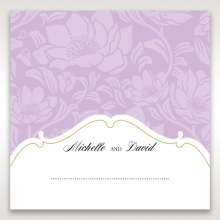 Majestic Gold Floral reception table place card design