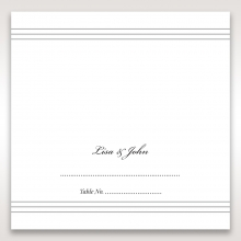 Marital Harmony wedding reception place card