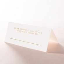 Minimalist Love table place card design