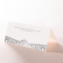 Modern Deco wedding venue table place card design