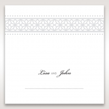 Modern Sparkle wedding reception table place card stationery item