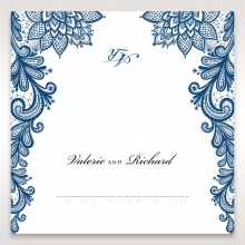 Noble Elegance wedding venue place card design