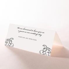 Paper Aristocrat reception table place card design