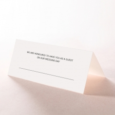 Paper Gilded Decadence wedding stationery table place card design