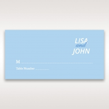 Personalised Love wedding reception table place card design