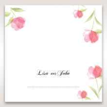 Petal Perfection wedding venue table place card stationery design