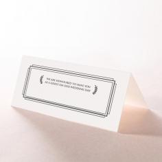 Playful Love reception place card stationery design