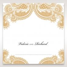 Prosperous Golden Pocket table place card design