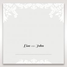 Regal Romance table place card stationery design