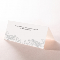 Regally Romantic wedding reception table place card stationery item