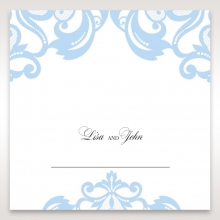 Romantic White Laser Cut Half Pocket table place card