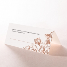 Rose Garden reception table place card stationery