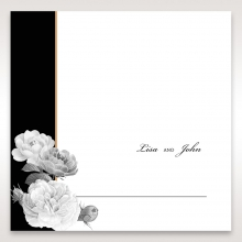 Rose Gold Flowers reception place card stationery item