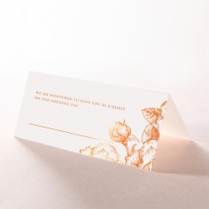 Rose Romance Letterpress with foil reception place card stationery design