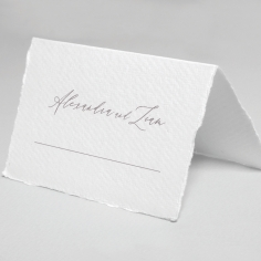 Royal Crest wedding stationery table place card