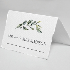 Rustic Affair wedding venue table place card stationery