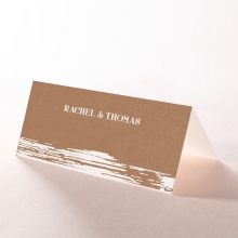 Rustic Brush Stroke reception place card