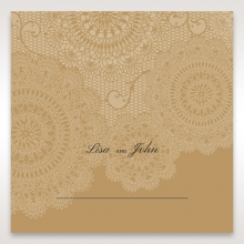 Rustic Charm wedding venue place card stationery design