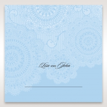 Rustic Lace Pocket reception table place card design