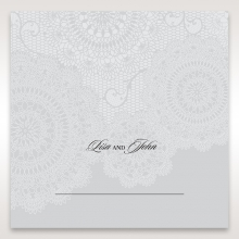 Rustic Lace Pocket reception table place card stationery