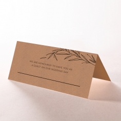 Rustic Oriental wedding stationery place card item