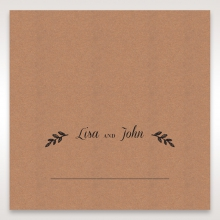 Rustic table place card