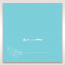 Seaside splendour wedding reception table place card stationery