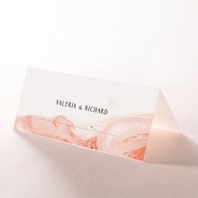 Serenity Marble reception table place card stationery design